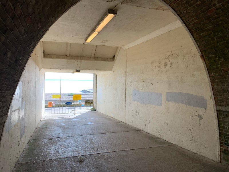 The tunnel at Saltdean Lido before it was painted