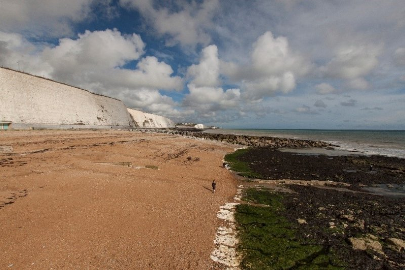 Cliffs and beach in Sussex