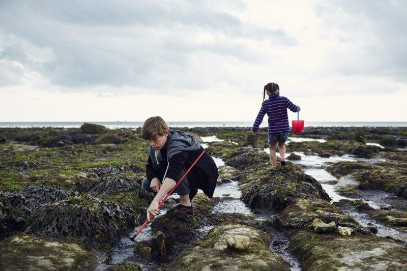 Children rockpooling on Sussex coast