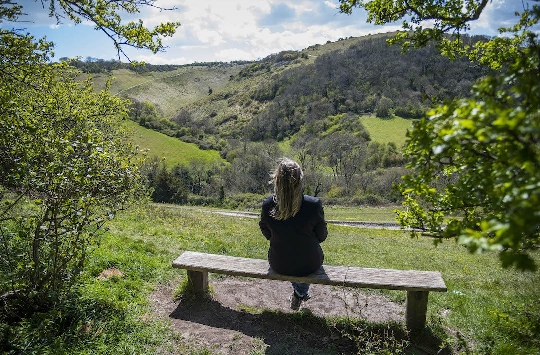 Bench with a view at Devil's Dyke