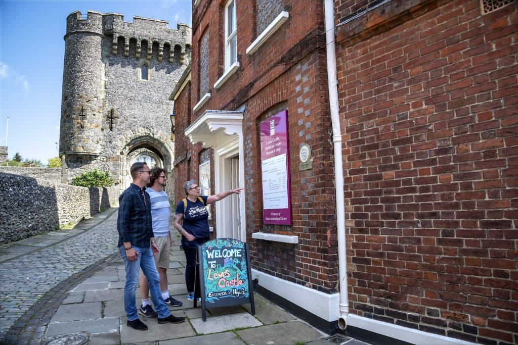 Lewes Castle tourists