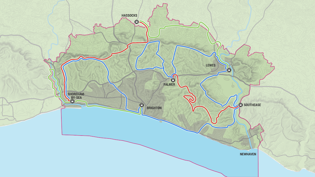 The Living Coast by Bike map