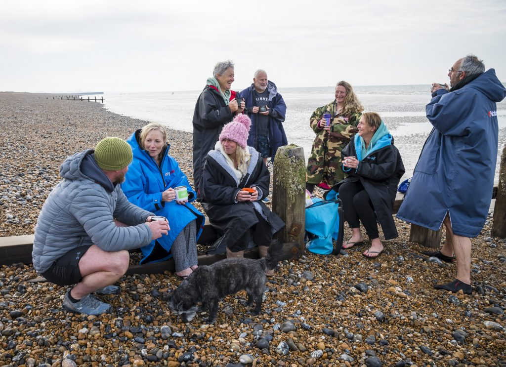Photo by Liz Finlayson/Vervate The Living Coast, the Brighton & Lewes Downs UNESCO Biosphere Region includes land and sea from Shoreham to Newhaven.  Shoreham Beach Sea Swimmers
