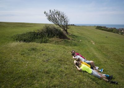 Photo by Liz Finlayson/Vervate The Living Coast, the Brighton & Lewes Downs UNESCO Biosphere Region includes land and sea from Shoreham to Newhaven. Telscombe Tye - Youngsters up on Telscombe Tye